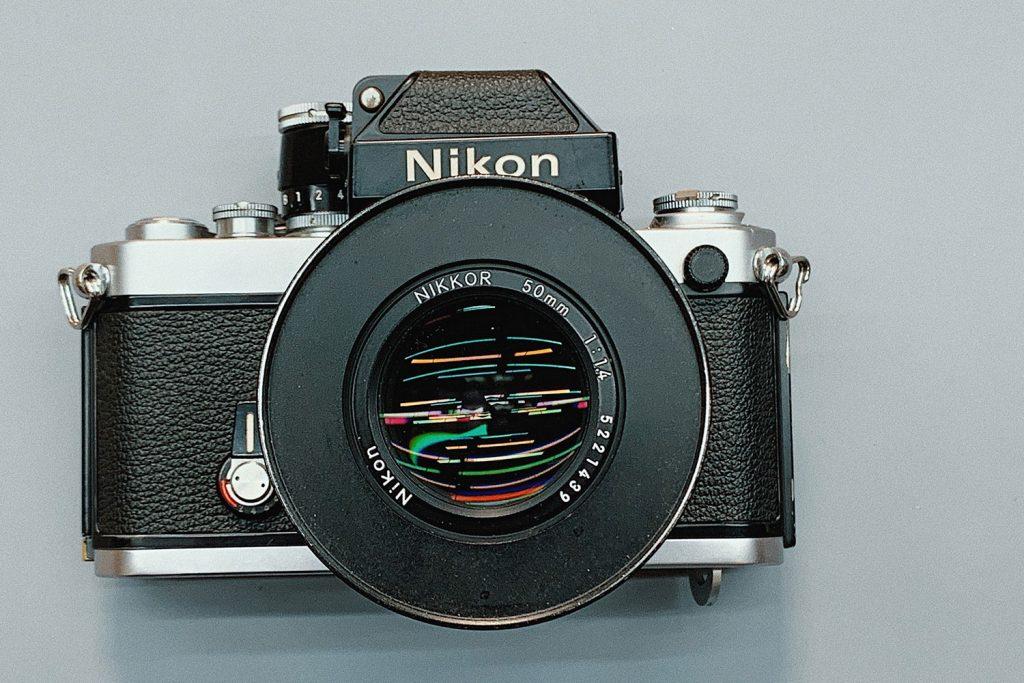 A vintage nikon camera